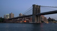 Stock Video Footage of Brooklyn bridge New York City