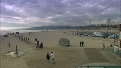 LA beach - stock footage