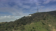 Hollywood sign zoom in Stock Footage