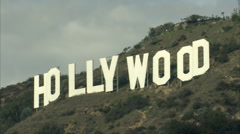 Hollywood sign cu Stock Footage
