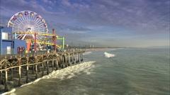 Boardwalk amusement park Stock Footage