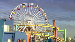 boardwalk amusement park 2 - stock footage