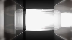 Circular Glass Maze Escape Stock Footage