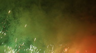 Stock Video Footage of colorful fireworks over night sky - 03