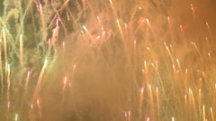 colorful fireworks over night sky - 01 - stock footage