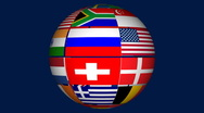 Flags of world Stock Footage
