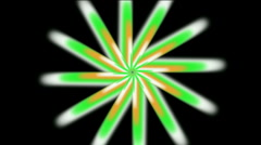 Whirl light ray space windwill leave sun fans wind flower petal background. Stock Footage