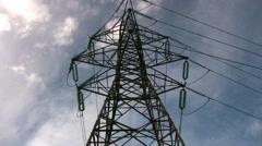Stock Video Footage of Electricity Pylon