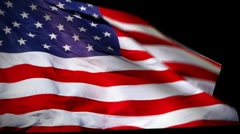 USA Flag Wiper - stock footage