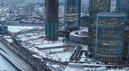 Stock Video Footage of Moscow International Business Center also known as Moscow-City in Moscow