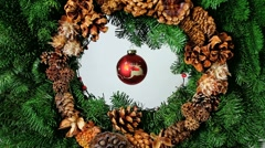 Christmas Wreath Spirit Stock Footage