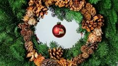Christmas Wreath Sparkle Stock Footage