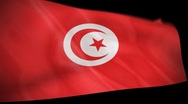 Stock Video Footage of Tunisia Flag Wiper
