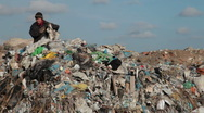 Stock Video Footage of Working in a landfill
