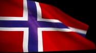 Norway / Norwegian Flag Wiper Stock Footage