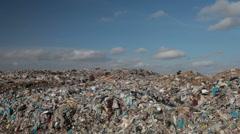 Landfill garbage - stock footage