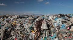 Landfill garbage Stock Footage