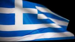 Greece Flag Wiper Stock Footage