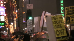 War Demonstration - Signs Stock Footage