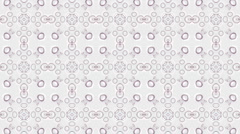 East retro flower pattern material carpets blankets rugs fabrics background. Stock Footage