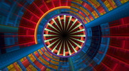 Geometric circle composition Stock Footage