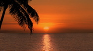 Sunrise/Sunset in Tropical Paradise Stock Footage