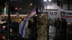 "War Demonstration - ""Israel Soldier"" Stock Footage"