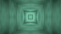 3d rectangle array tunnel,square flooring tiles bricks wall door background. Stock Footage
