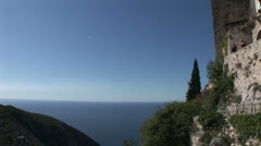 Eze fortress walls Stock Footage