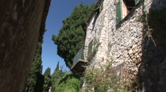 Eze village street Stock Footage