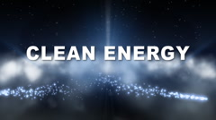Clean Energy Trailer - stock footage