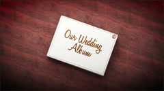 WEDDING ALBUM Stock Footage