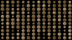 Brown circle array background jewelry abacus pearl jewelry jade chocolate. Stock Footage