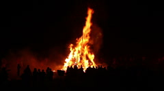 Bonfire - With large Crowds & Romans - stock footage
