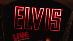 Elvis neon sign V1 - HD - stock footage