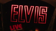 Stock Video Footage of Elvis neon sign V1 - HD