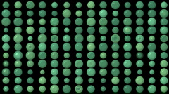 Green circle array jewelry abacus pearl jewelry jade precious stones background. Stock Footage