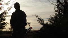 """Hunter """"Straight at you"""" - silhouette - HD1080 - stock footage"""