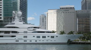 Stock Video Footage of Mega yacht in Miami