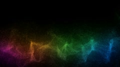 Particles Moving Across Color Spectrum 720p Stock Footage