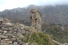 Fortress ruins Stock Footage