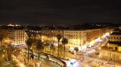 Rome skyline - stock footage