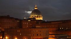 Saint Peter Basilica, Rome Stock Footage