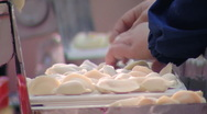 Stock Video Footage of Production of ravioli