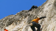 Stock Video Footage of Mountain Climbers