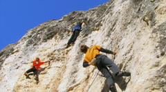 Stock Video Footage of Rock Climbers