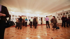 People in hall, expecting operetta at Moscow Operetta Theater in Moscow - stock footage