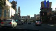 Vegas Strip POV driving shot MIRAGE V2 - HD Stock Footage