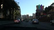 Vegas Strip POV driving shot MIRAGE - HD Stock Footage