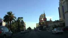 Vegas Strip POV driving shot NY / MGA - HD Stock Footage
